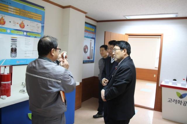 고성소방서장, 관내 주요 공장 지도방문.JPG