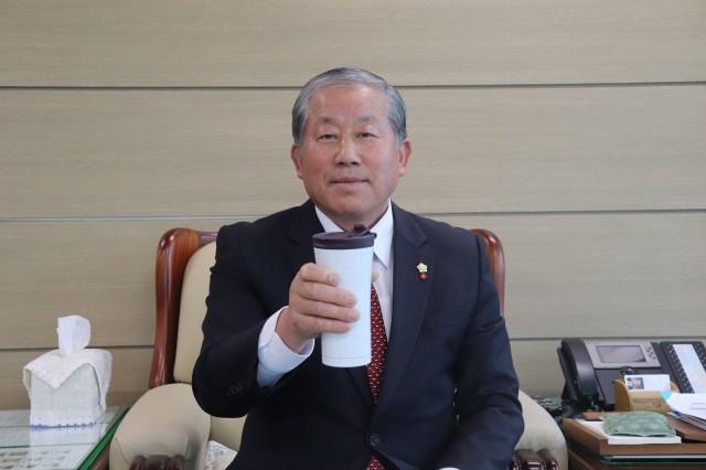 박용삼 의장, 플라스틱 프리 챌린지 캠페인 동참.JPG