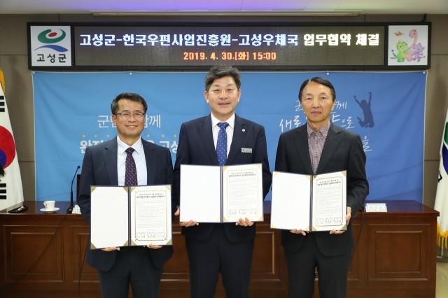 4월30일고성군-한국우편사업진흥원-고성우체국 MOU 체결 (1).JPG
