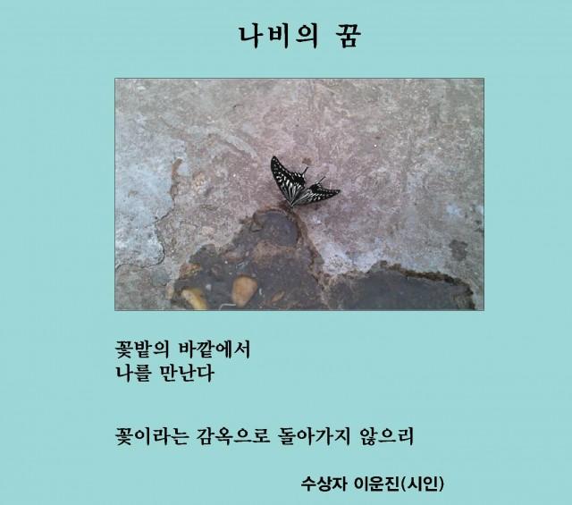 제5회 디카시 작품상 이운진 시인 '나비의 꿈'.jpg