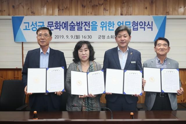 2-1 예술인 처우개선 및 복지사업 본격 시작-문화예술발전업무협약식(2019. 9.).JPG